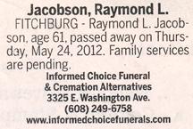 Obituary Names H to K – Fitchburg Historical Society