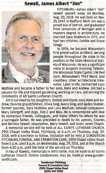 Obituary Names S to Z – Fitchburg Historical Society