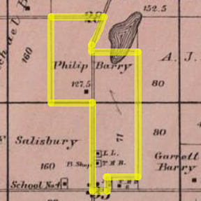 P Barry land 1890 LR